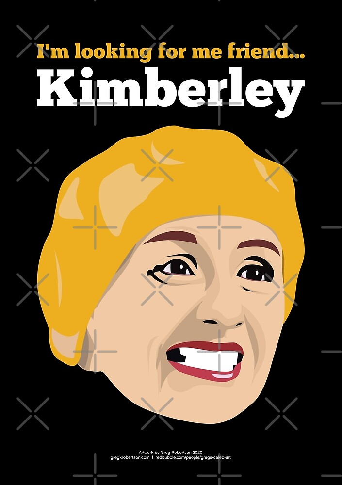 Victoria Wood - I'm Looking for me Friend, Kimberley! by gregs-celeb-art