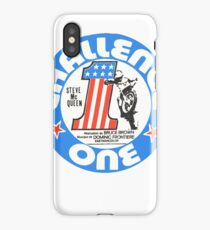 Vintage Challenge one Steve MC Queen Decal iPhone Case/Skin