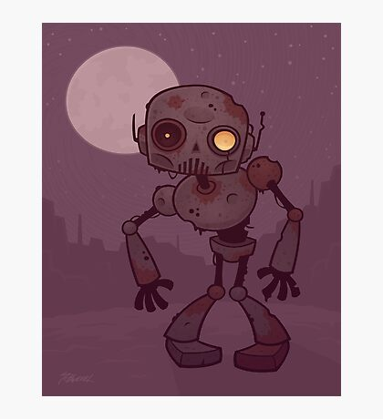 Rusty Zombie Robot  Photographic Print