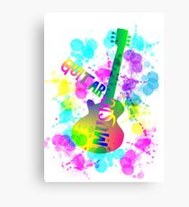Rainbow Guitar Music Themed Graphic Canvas Print