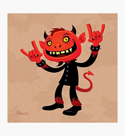 Heavy Metal Devil Photographic Print