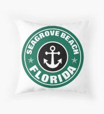 SEAGROVE BEACH, FLORIDA NAUTICAL ANCHOR ART Throw Pillow