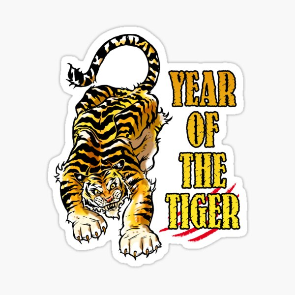 Year of the Tiger Sticker