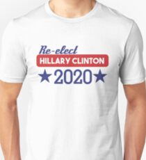 Re-Elect Hillary Clinton 2020 - Stars Unisex T-Shirt