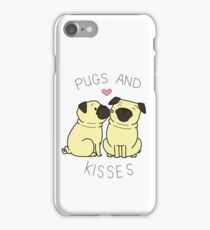 Pugs and Kisses - White Edition iPhone Case/Skin