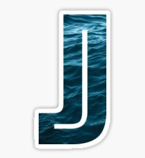 "The Letter ""J"" Ocean Sticker"