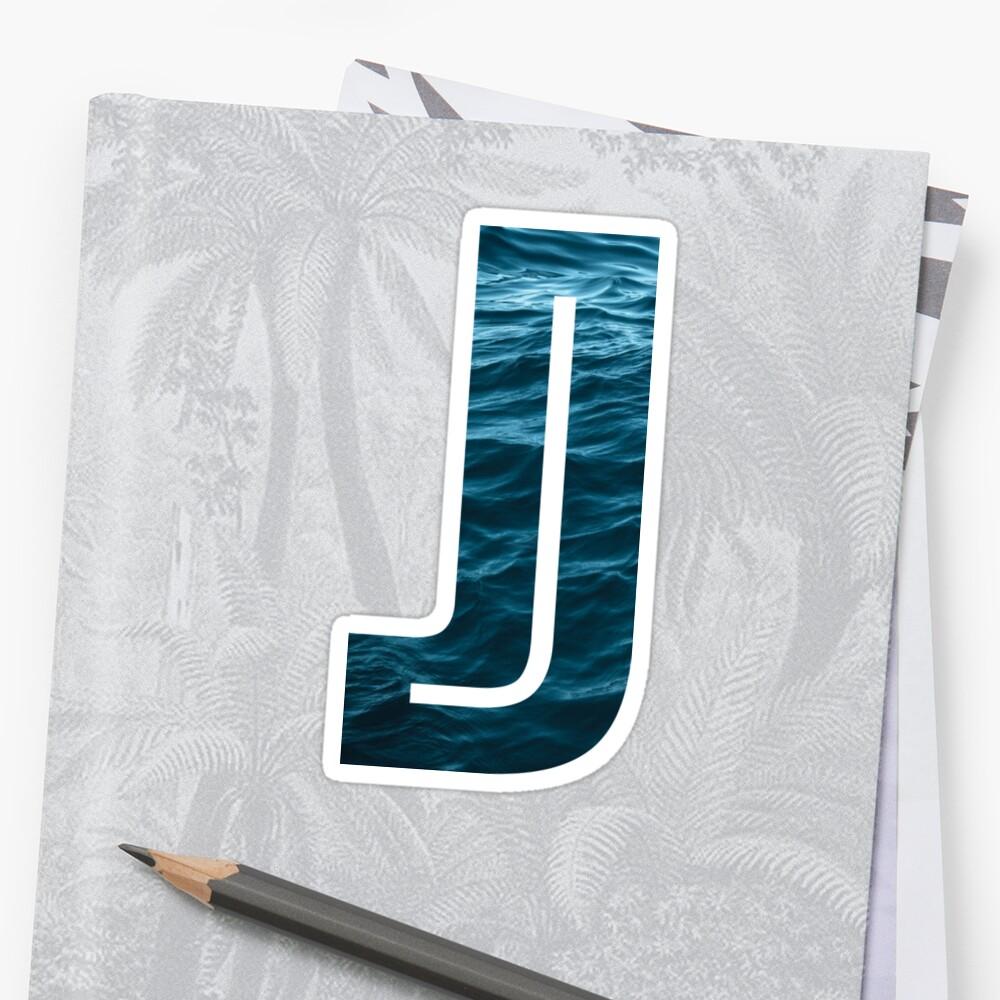 """The Letter """"J"""" Ocean by Mike Gallard"""