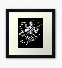 HP Lovecraft's Mad Arab Death Metal Style Framed Print