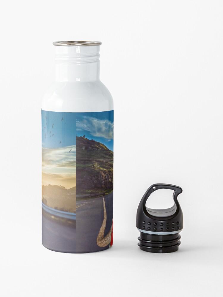 Alternate view of Bearded Dragon Sunset Vespa Roadtrip Water Bottle