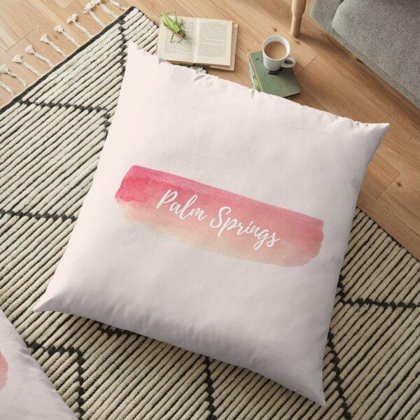 Palm Springs - Watercolor (Pastel Rose Pink) Floor Pillow