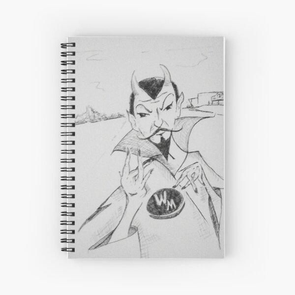 WM Blue Devils Sign Spiral Notebook