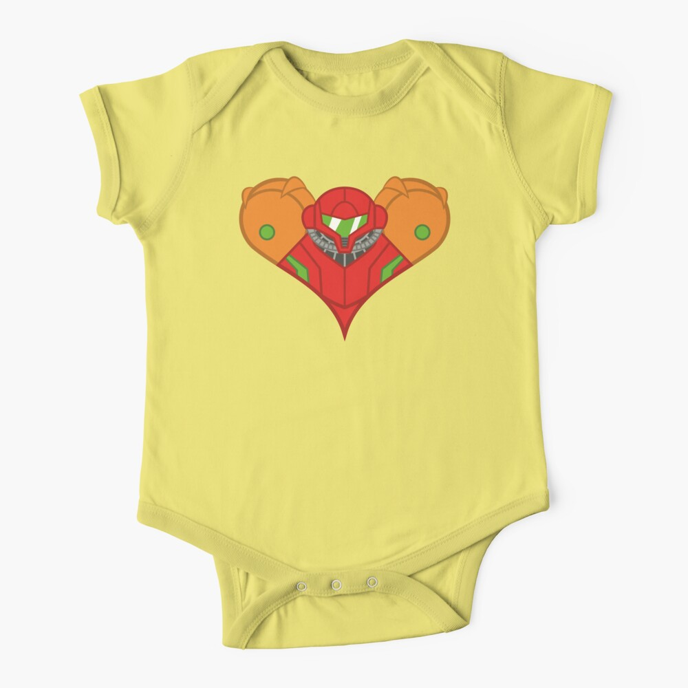 Samus Heart Baby One-Piece
