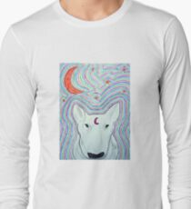 The dog, and the moon Long Sleeve T-Shirt