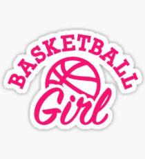 Pegatina Chica de baloncesto