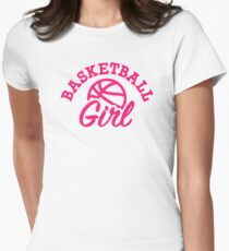 Basketball girl Womens Fitted T-Shirt