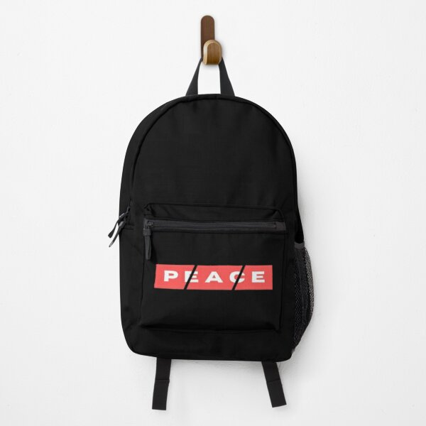 dashed red peace hippie Backpack