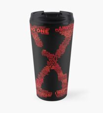 Wisdom of X-Files (Red) Travel Mug