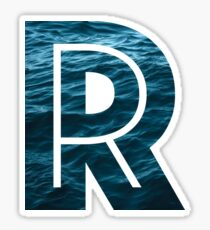 """The Letter """"R"""" Ocean Sticker"""