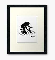 Cycling woman girl Framed Print