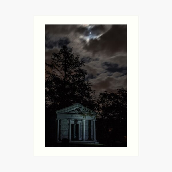 Moonlight and Crypt Art Print