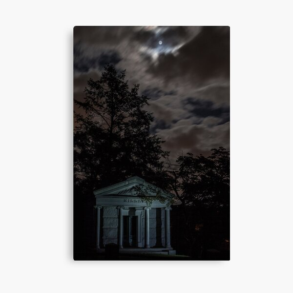 Moonlight and Crypt Canvas Print