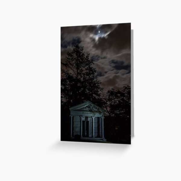 Moonlight and Crypt Greeting Card