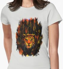 Tiger In The Bushes Womens Fitted T-Shirt