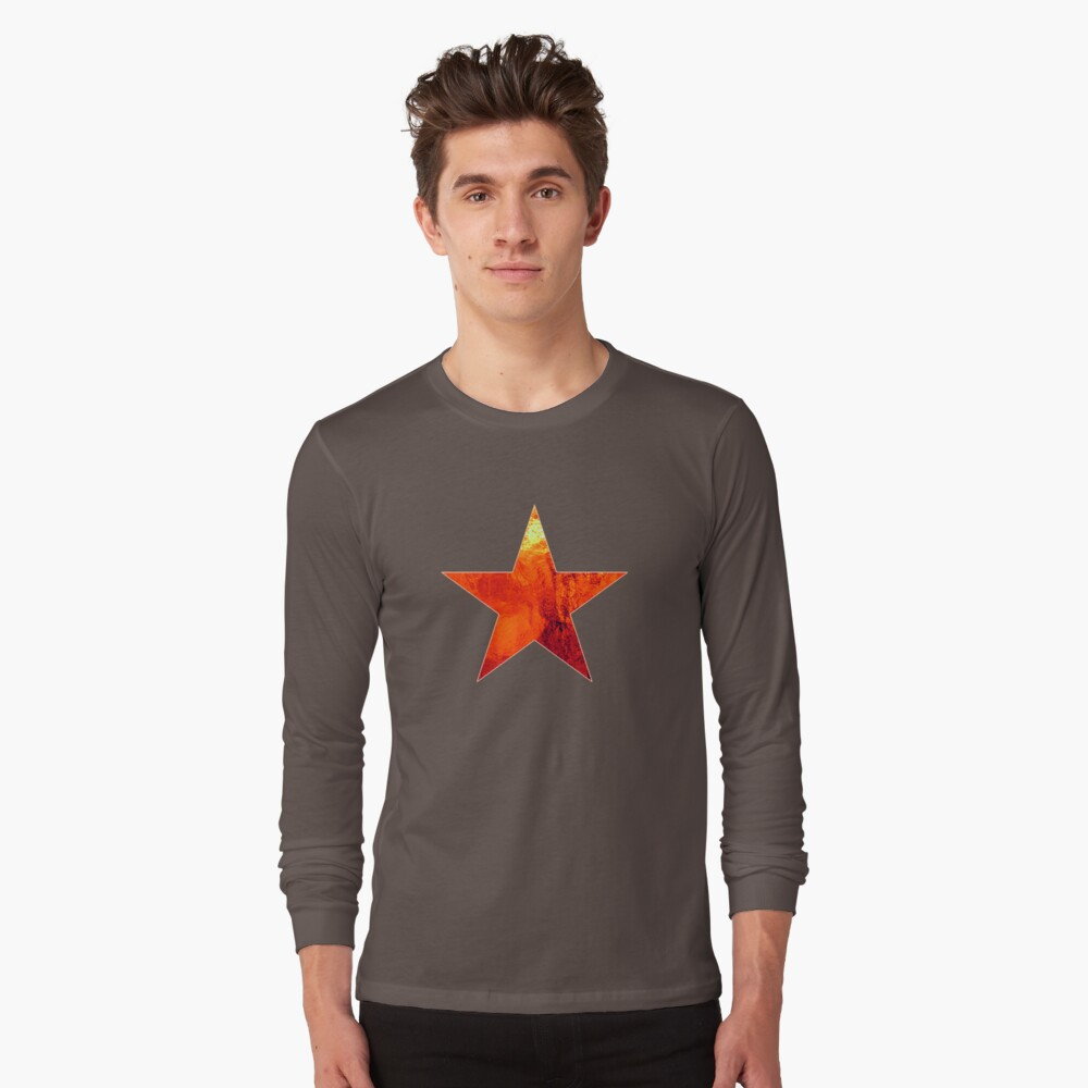 Flaming Star Long Sleeve T-Shirt Front