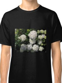 Snowballs in Summer - Beautiful White Hydrangea Blossoms Classic T-Shirt