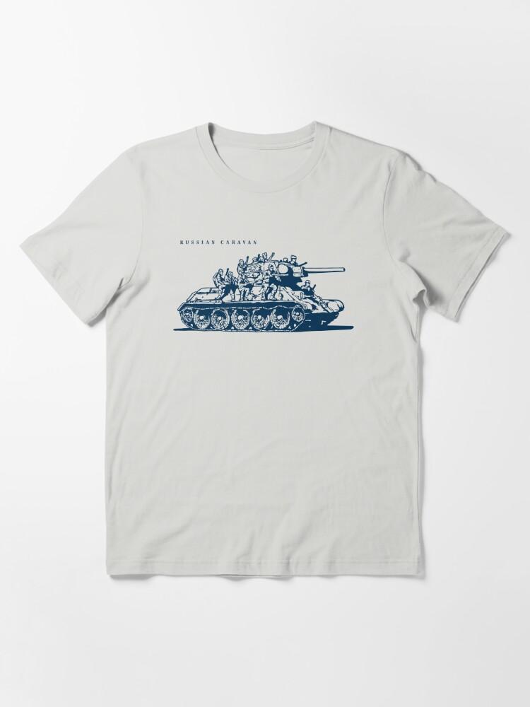 Alternate view of T-34 Russian Caravan Essential T-Shirt