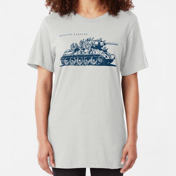 T-34 Russian Caravan Slim Fit T-Shirt