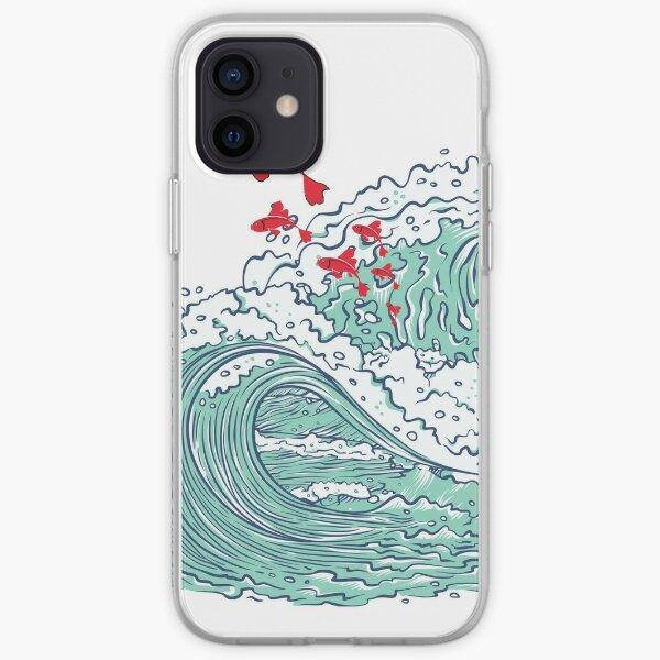 Ponyo waves iPhone Soft Case