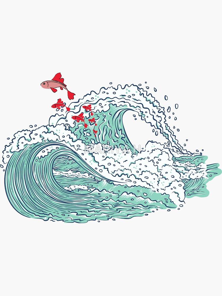 Ponyo waves by Maryaartist