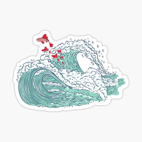 Ponyo waves Sticker