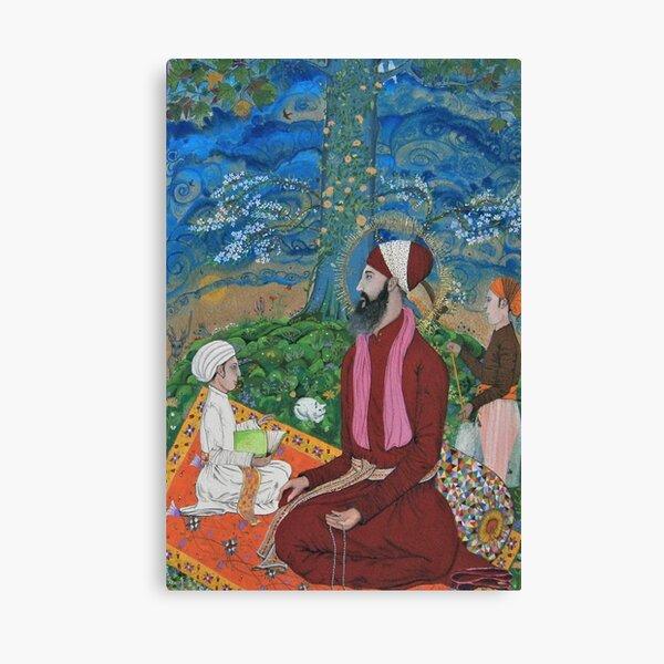 Guru Ram Das Meditating Under A Chenar Tree Canvas Print