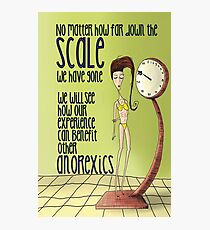 Anorexic Scale Photographic Print