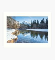 Half Dome Reflections - Yosemite National Park Art Print