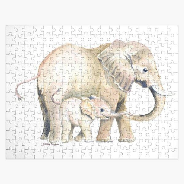 Mama und Baby Elefant 2 Puzzle