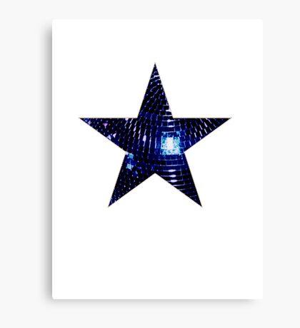 Disco Star Canvas Print