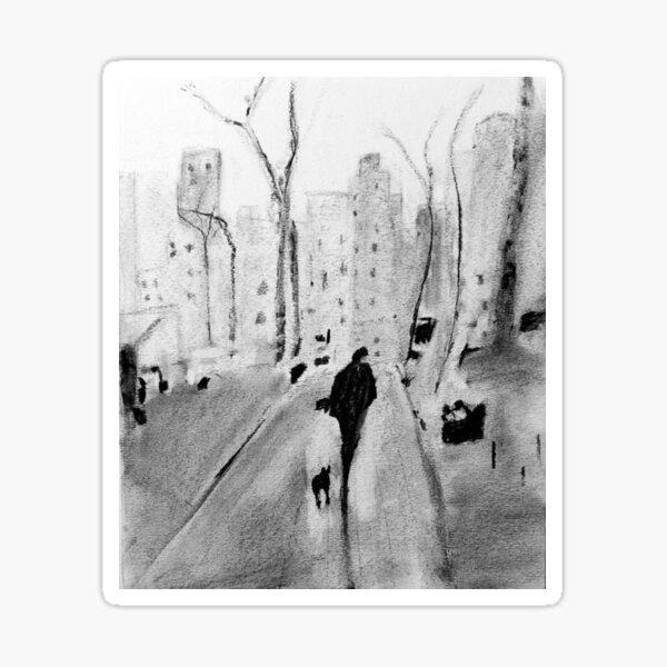 Man Walking - New York City Sticker