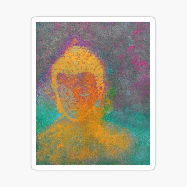 Buddha Girl Painting By Concetta Ellis Sticker