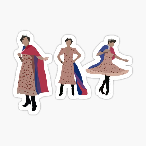 The Eret king Eret strawberry dress (3 set for stickers and magnets only) Sticker