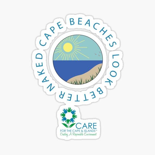 Cape Beaches Look Better Naked T-Shirt Sticker