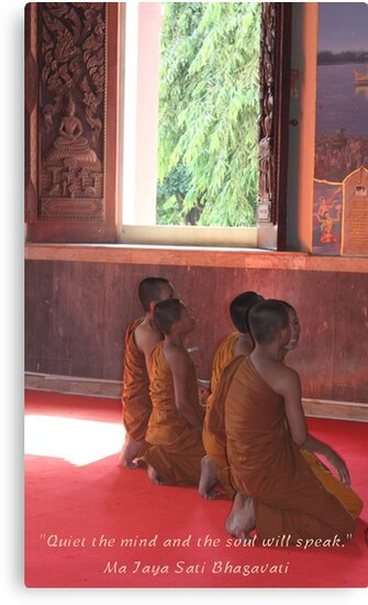 Monks in Ayutthaya-Meditation Quote by sailgirl