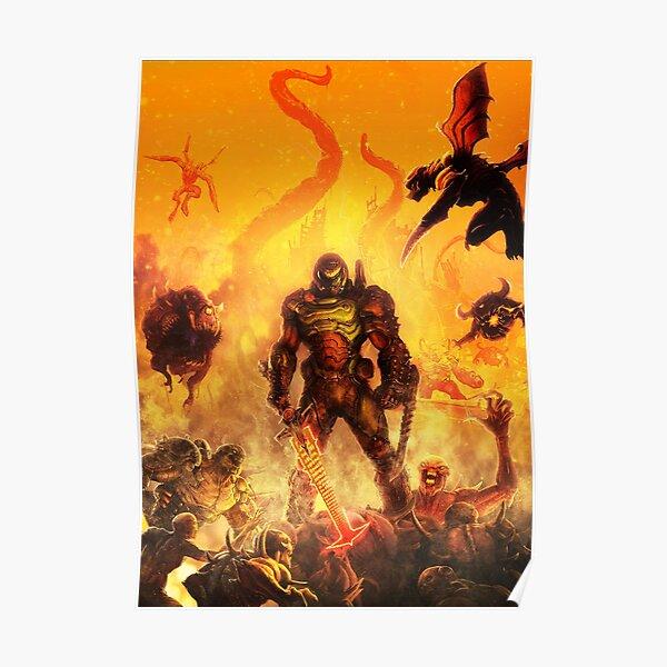 Doom Eternal - Artwork - Poster - Gamer Poster