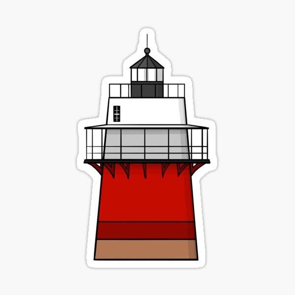 Duxbury Pier Lighthouse, Bug Light Sticker