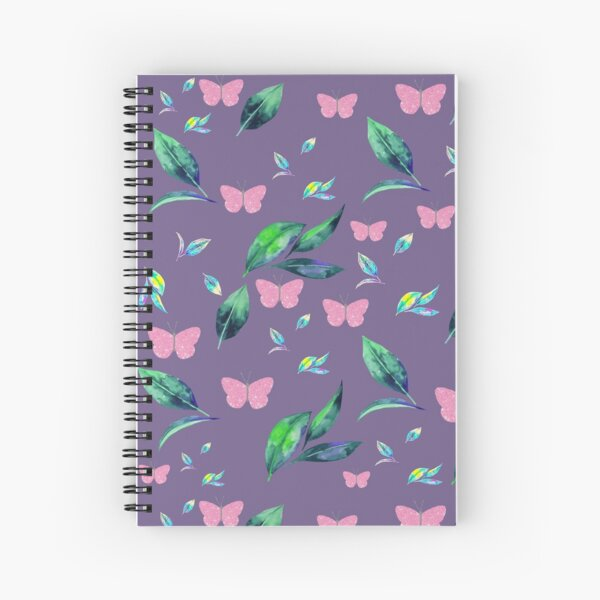 Leaves and flowers pattern Spiral Notebook