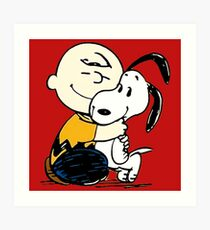 Snoopy and Charlie Soulmate Art Print