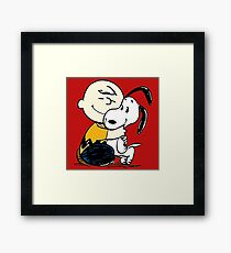 Snoopy and Charlie Soulmate Framed Print