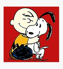 Snoopy and Charlie Soulmate Photographic Print